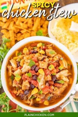 bowl of chicken stew