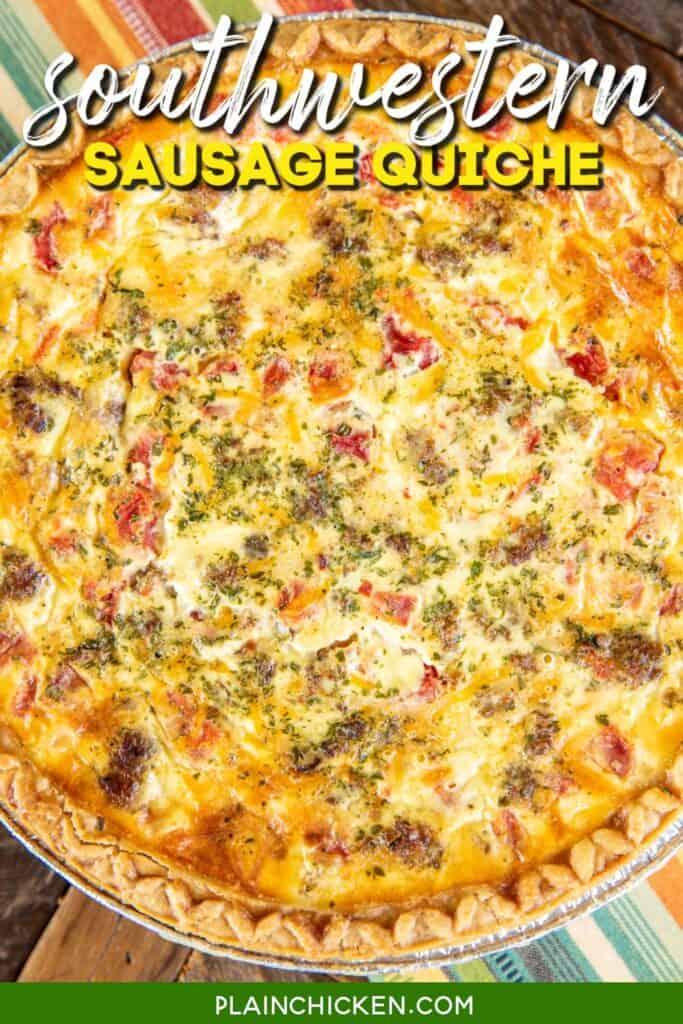 whole sausage & rotel quiche