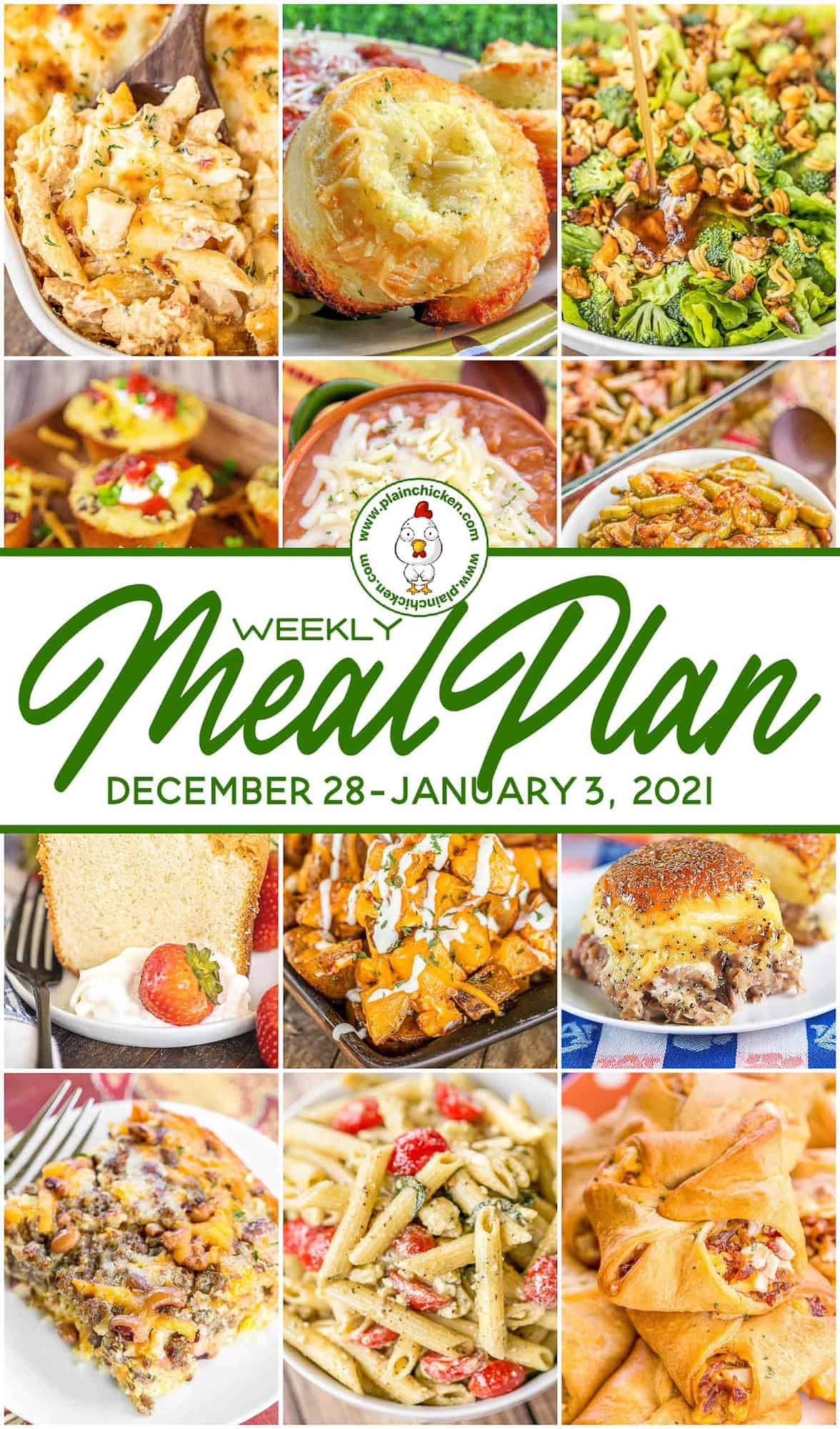 What's for Dinner Weekly Meal Plan   Plain Chicken