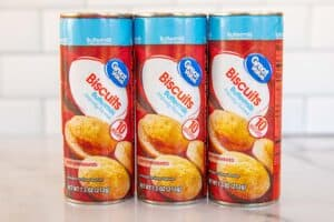 cans of refrigerated biscuits