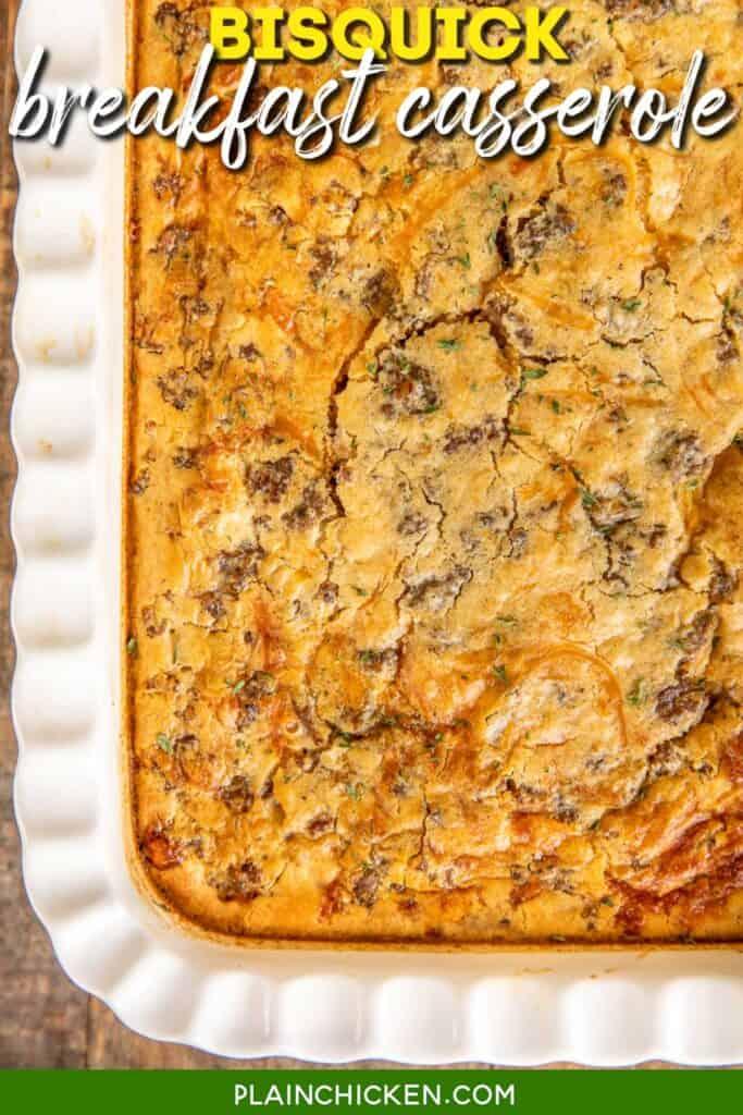 breakfast casserole in a baking dish