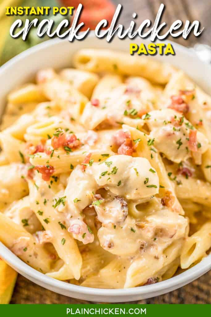 bowl of chicken bacon pasta