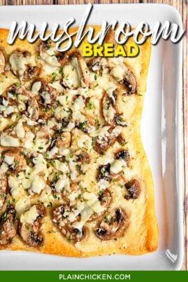 mushroom bread on a plate