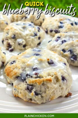 plate of blueberry biscuits