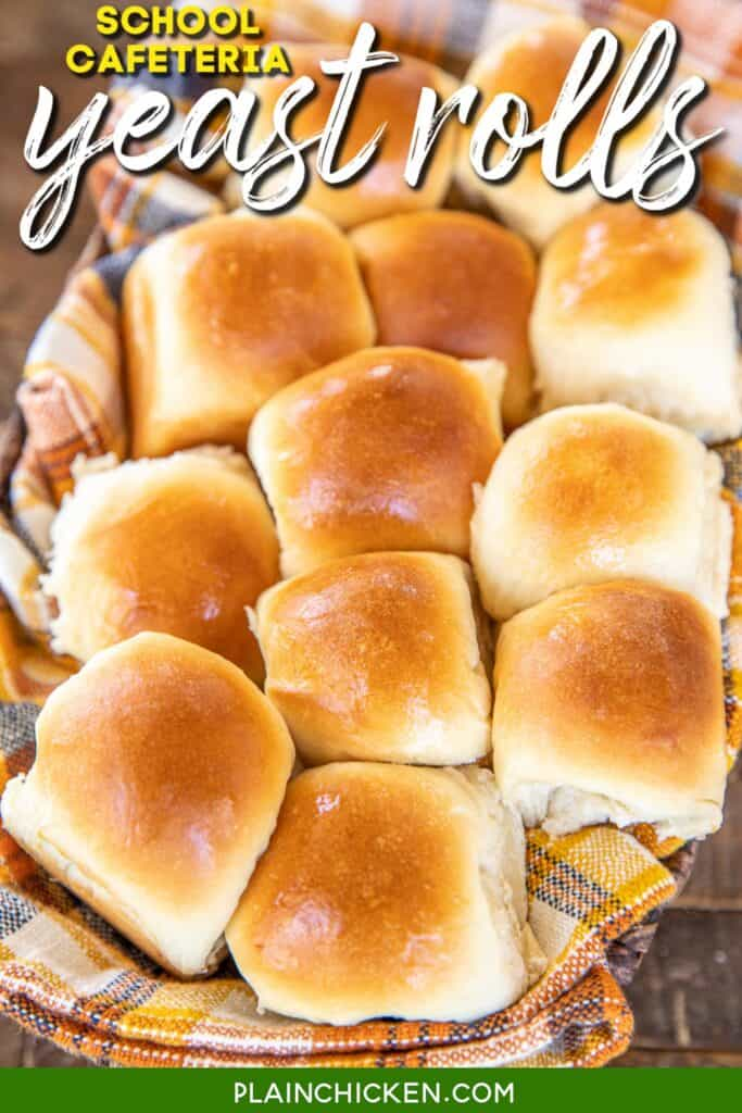 basket of yeast rolls