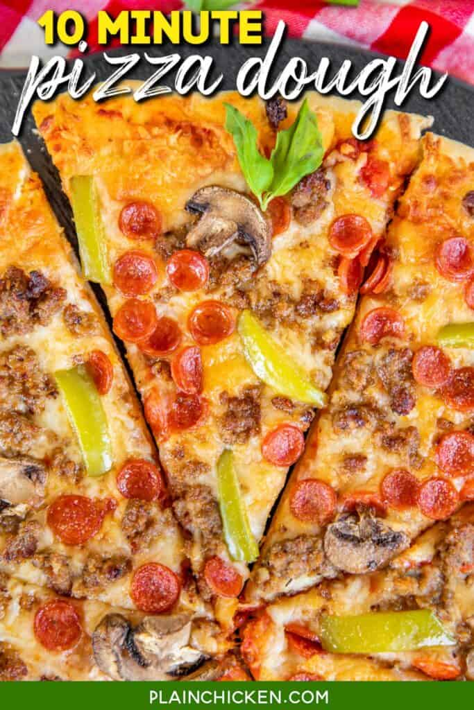 slice of pizza on a platter