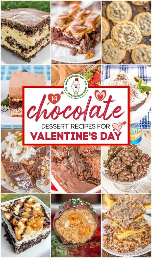 collage of chocolate dessert photos