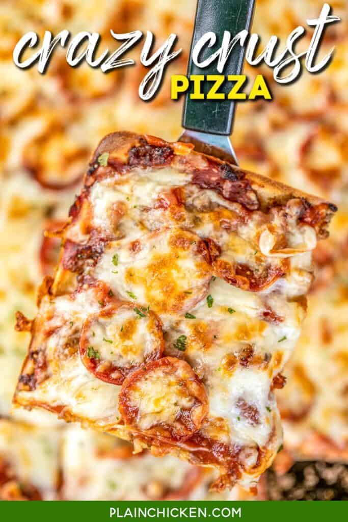 slice of pizza on a spatula