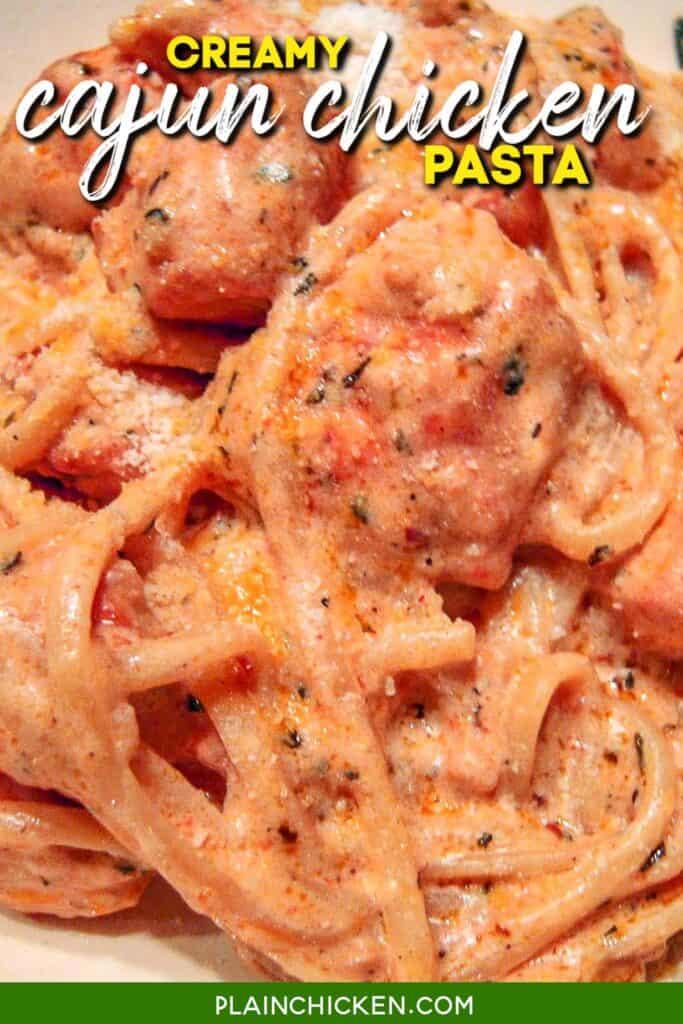 bowl of creamy cajun chicken pasta
