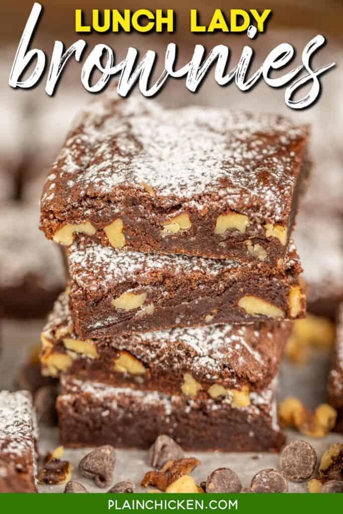 stack of 4 brownies