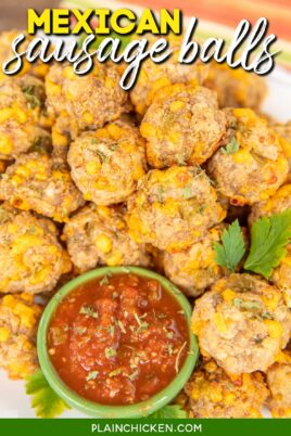 platter of mexican sausage balls