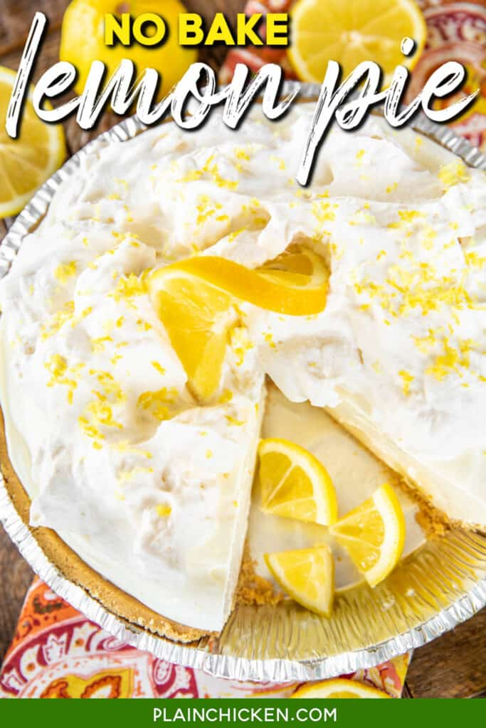 lemon pie with a slice cut out of it
