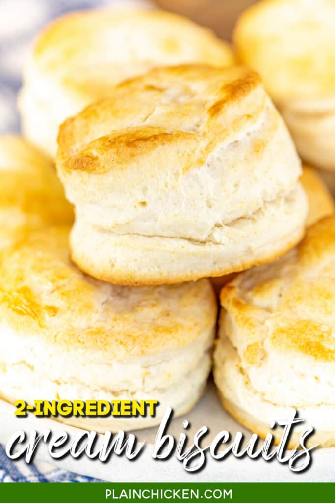 plate of cream biscuits