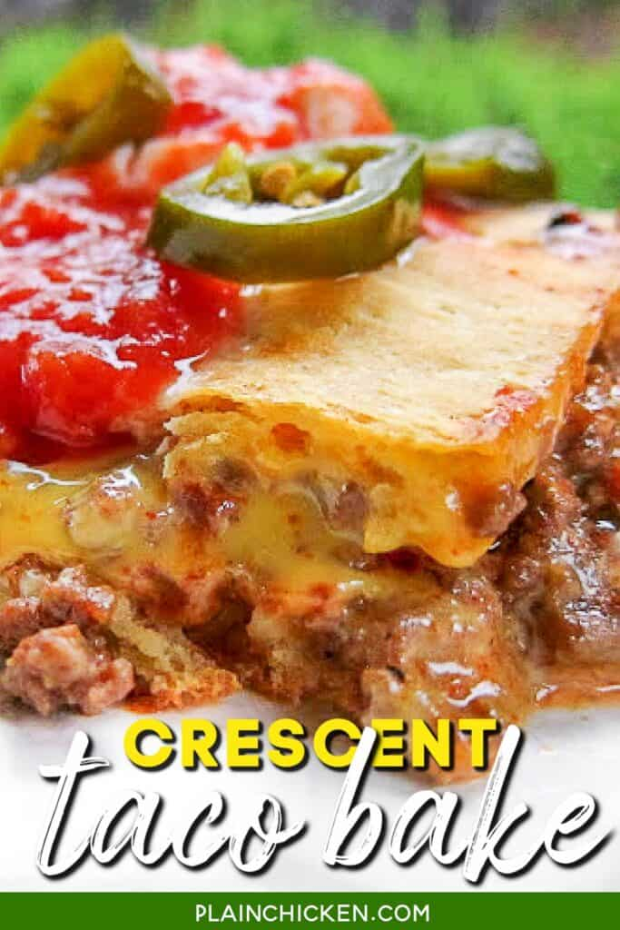 taco crescent roll casserole on a plate