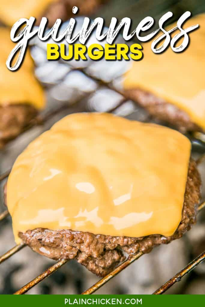 cheese burger cooking on a grill