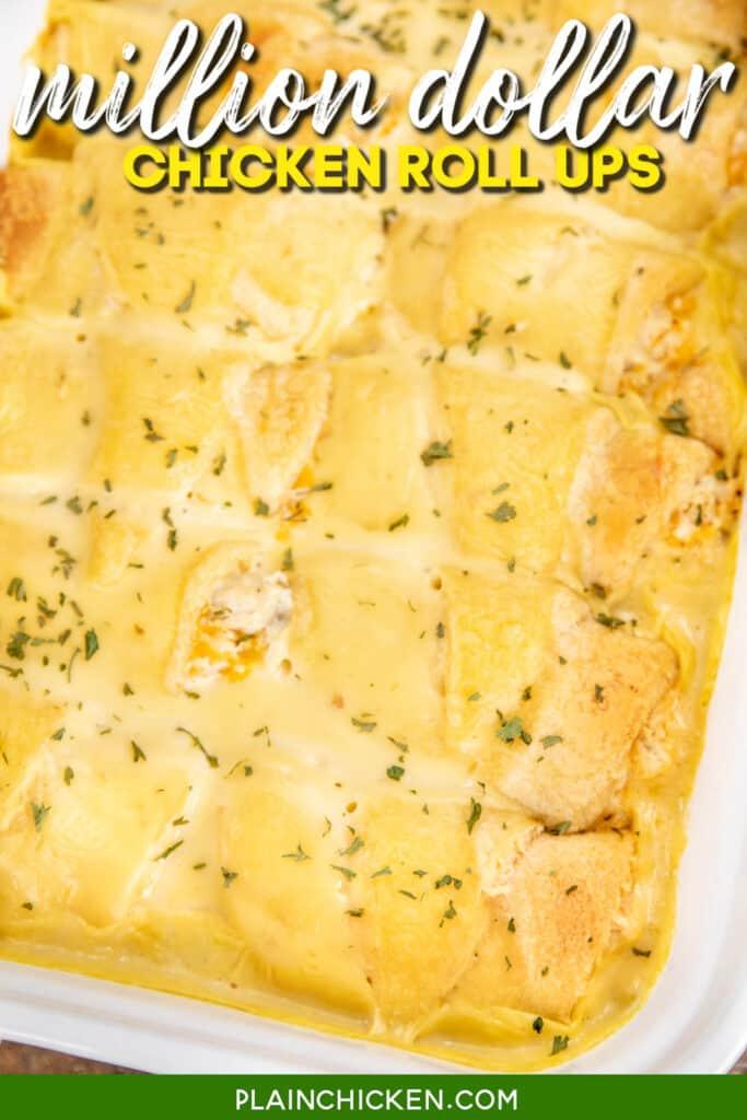 baking dish of chicken crescent casserole