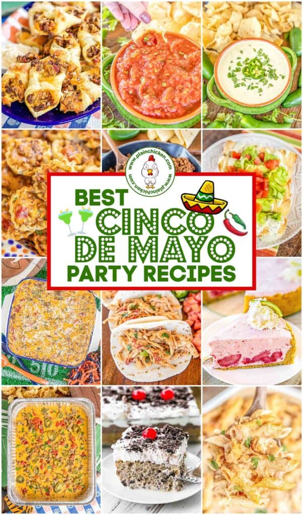collage of 12 mexican food photos