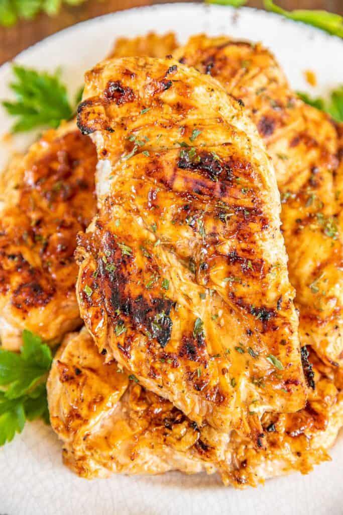platter of bbq chicken