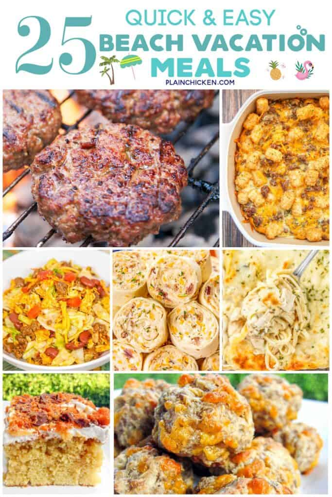 collage of 7 food photos