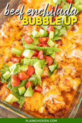 mexican biscuit casserole in baking dish