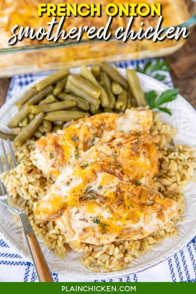 plate of sour cream french onion chicken tenders