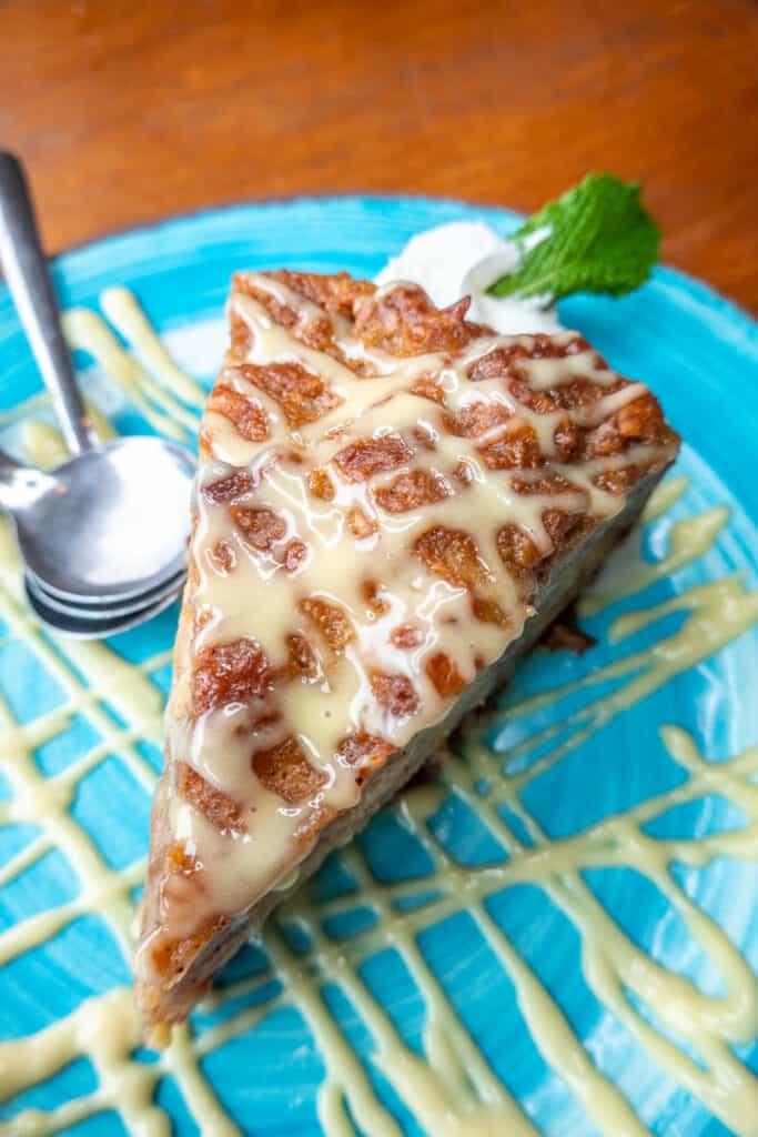 slice of bread pudding