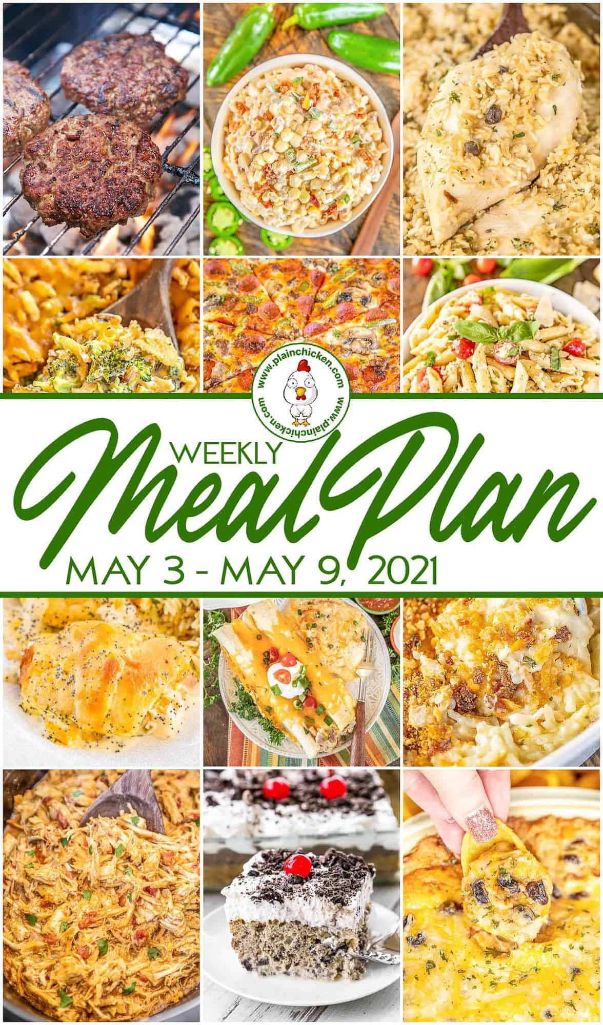 Weekly Meal Plan   Plain Chicken