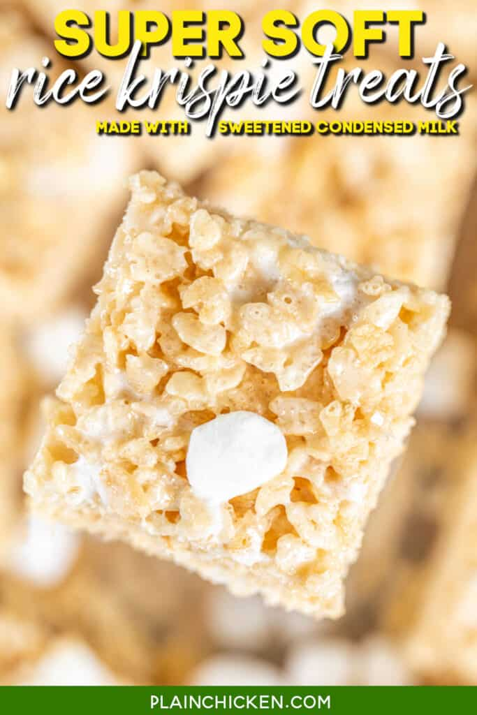 close up of a rice krispie treat