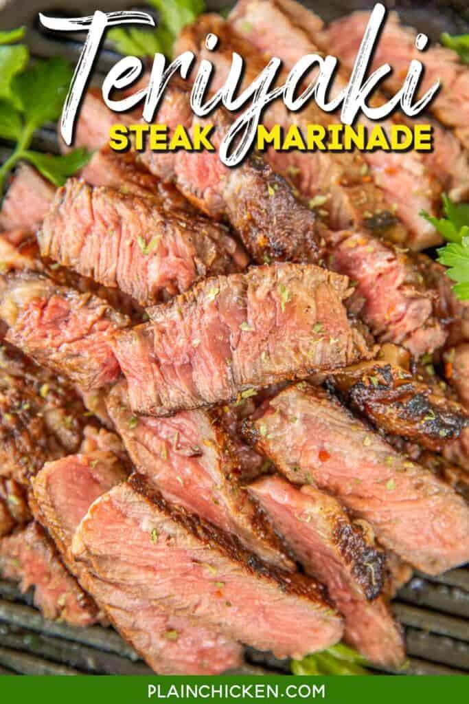 plate of sliced steak