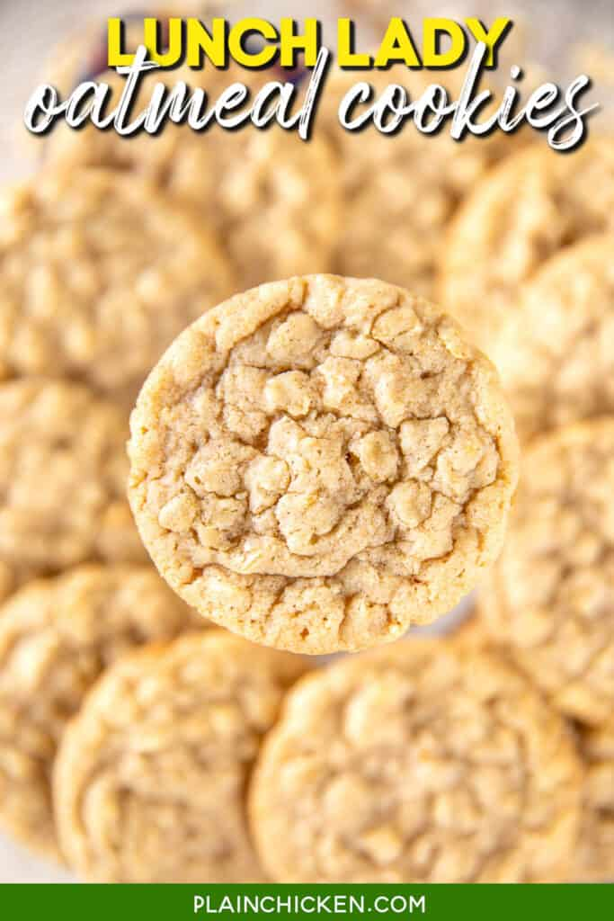 close up of an oatmeal cookie