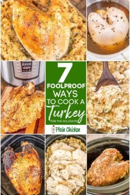 collage of 7 turkey photos with text overlay